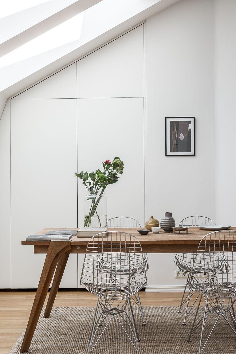 Esszimmer Modern Minimalistisch Schlicht Einrichten Eames Wire Stühle  Designklassiker Essplatz