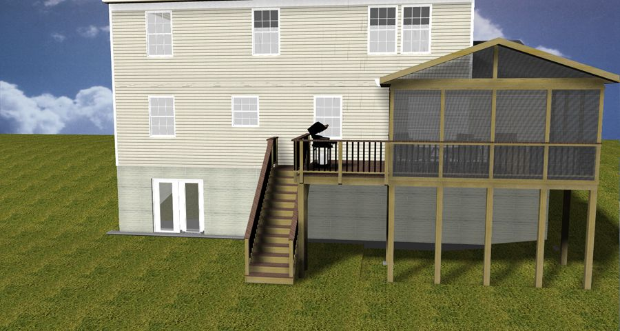 Second Story Screen Porch Gaithersburg Md Jpg Deck Design Pinterest Decks Search And Design