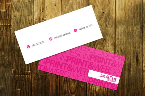 Check Out Typo Mini Business Card By Printdesignbundle On Creative - Mini business cards template