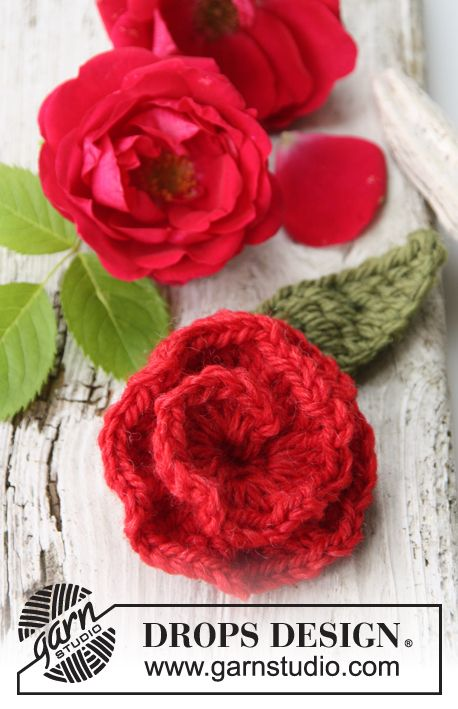 """Sweet As Rose - Gehäkelte DROPS Rosenblüte aus """"Nepal"""". - Free ..."""