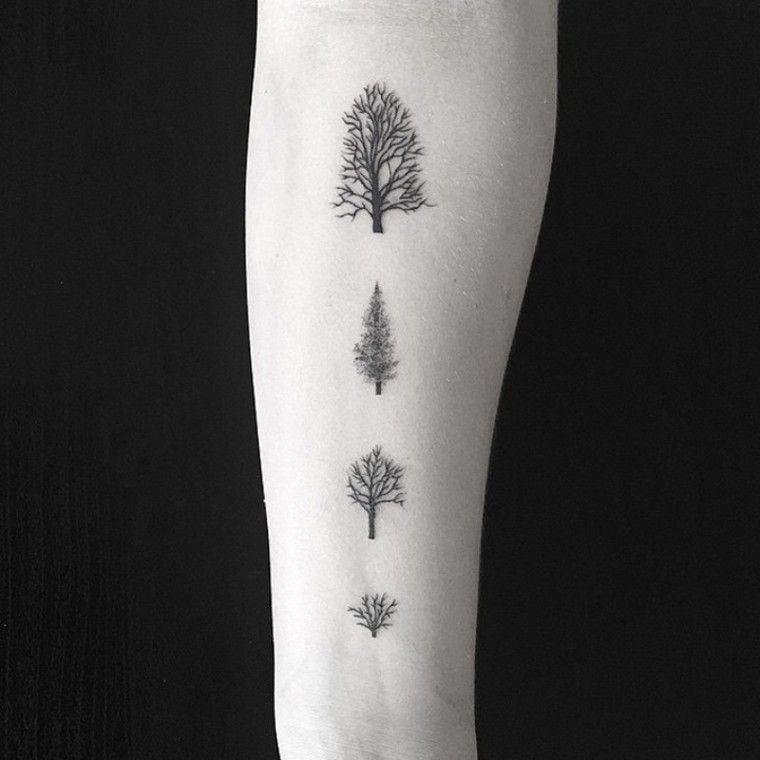tatouage arbre pin laurier ch ne bouleau olivier. Black Bedroom Furniture Sets. Home Design Ideas