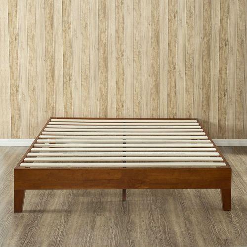 King Modern Low Profile Solid Wood Platform Bed Frame In