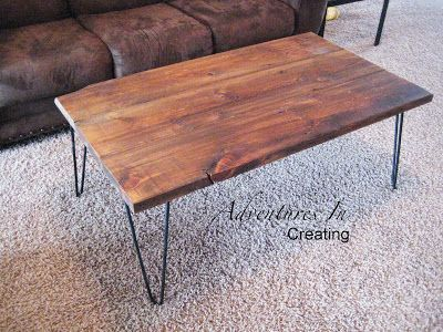 Reclaimed Wood Coffee Table With Hairpin Legs Coffee Table