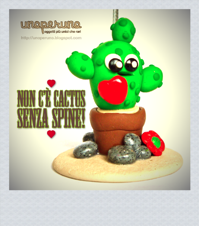 IDEA REGALO Portafoto/portamemo NON C'E' CACTUS SENZA SPINE! (mod. B)