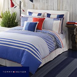 @Overstock - This brilliant blue comforter set features a precise lined pattern. The set is composed of 100-percent cotton.http://www.overstock.com/Bedding-Bath/Tommy-Hilfiger-Mariners-Cove-3-piece-Comforter-Set/6775074/product.html?CID=214117 Add to cart to see special price