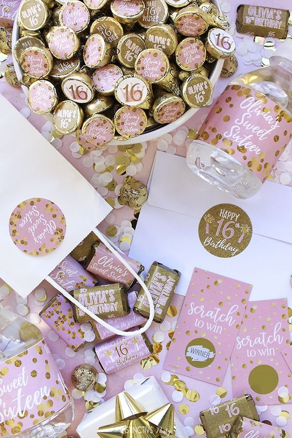 Sweet 16 Party Favors #sweet16birthdayparty