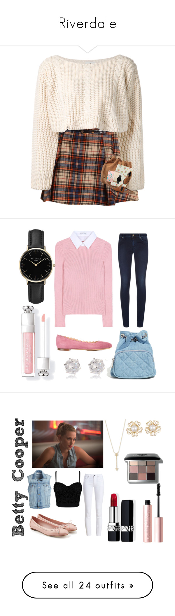 """""""Riverdale"""" by princesselune97 ❤ liked on Polyvore featuring UNIF, UGG, Go Stationery, Monki, Kate Spade, CLUSE, 7 For All Mankind, Altuzarra, Chloé and Forever 21"""