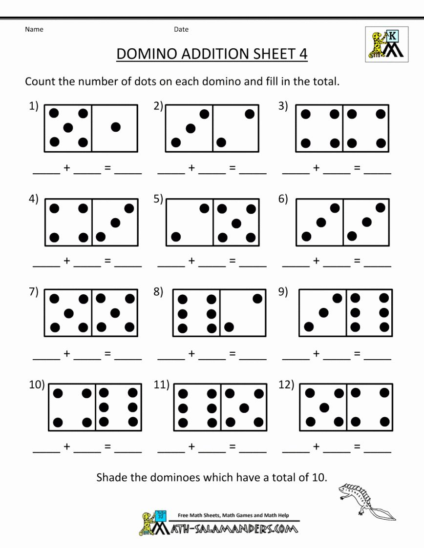 Kindergarten Math Worksheets Addition Di 2020 Kegiatan Untuk Anak Matematika Anak