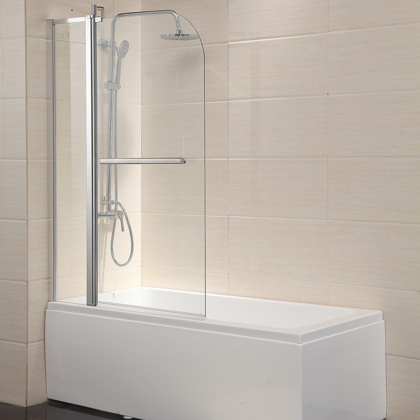 Waagee Bath Tub Shower Door Framed 14 Clear Glass 55x39 Home