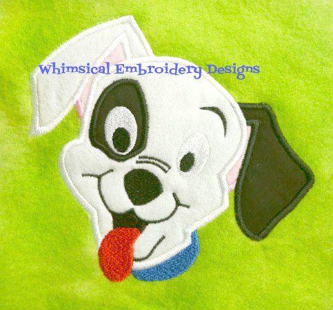 101 Dalmatians  Machine Embroidery Applique Design INSTANT DOWNLOAD                                                                                                                                                                                 More