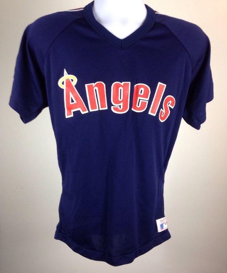 Vtg MLB California La Anaheim Angels Baseball Jersey Rawlings Large Jourdan 7 | eBay