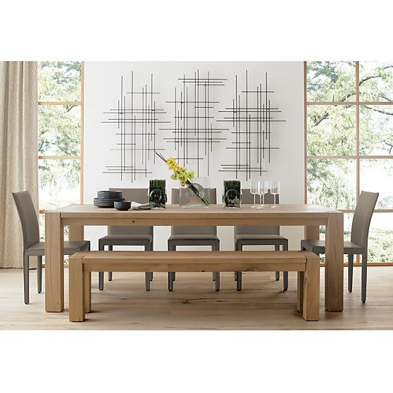 Big Sur Natural 90 5 Dining Table In Dining Tables Crate And
