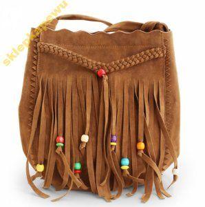 Elegancka Torebka Damska Boho Z Fredzlami Miejska 6251527928 Oficjalne Archiwum Allegro Bucket Bag Chic Leather Fringe Handbags