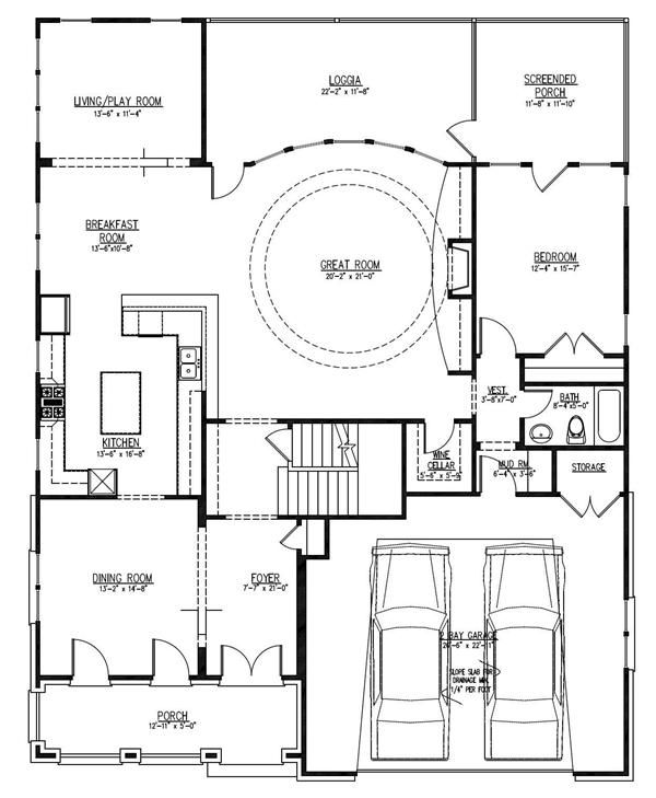Home Plan 152 1010 Floor Plan First Story Blueprint House Plans Spanish Style Homes Luxury House Plans