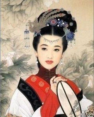 """Handicrafts Repro Art oil painting:Beauty Ancient times 24x36"""" #6522"""