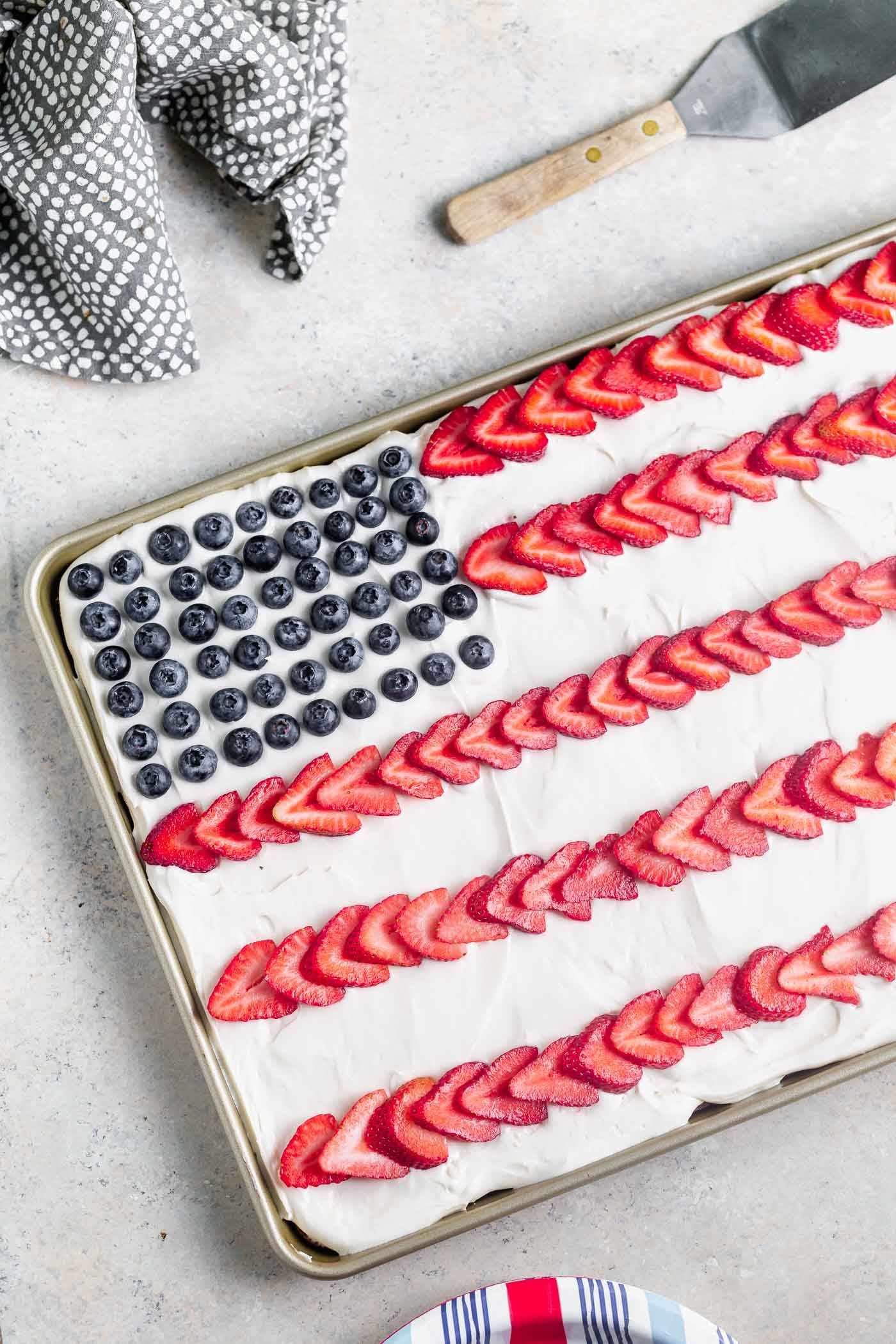 Fourth Of July Flag Cake Cooking For Keeps Recipe Flag Cake Fourth Of July Yummy Desserts Easy
