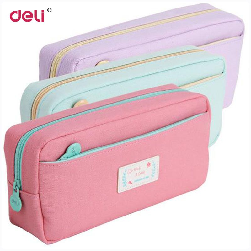 3423bca54ae4 Cute School Pencil Case For Girls Large Capacity Canvas Pencil Bags ...