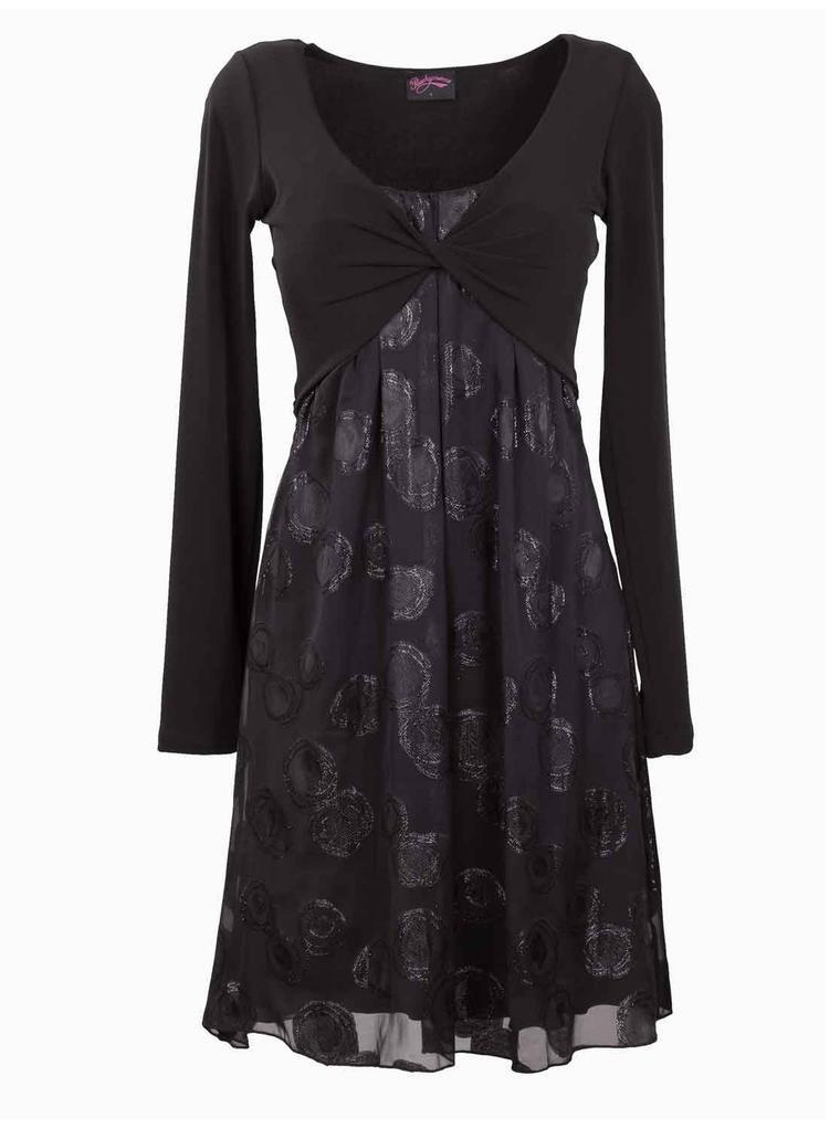 ba15fa716c Black Tie Front Dress