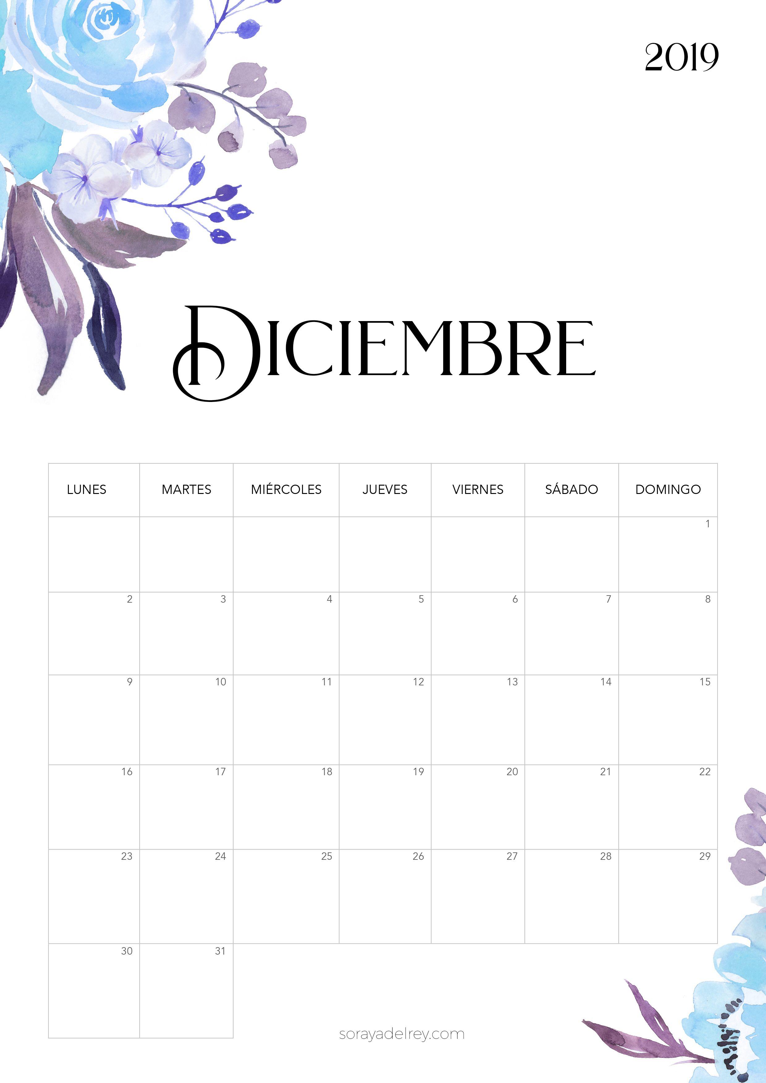 Calendario Diciembre 2020 Para Imprimir.Calendario Para Imprimir 2018 2019 School Calendario