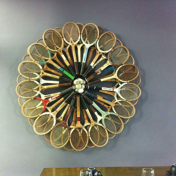 Diy Design Objects: Old #tennis #rackets Bring Back To Life Via @how_to