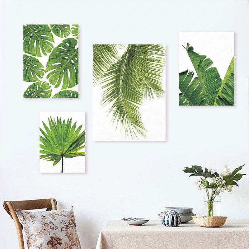 Modern Watercolor Palm Leaves Floral Prints Poster Canvas Art Wall