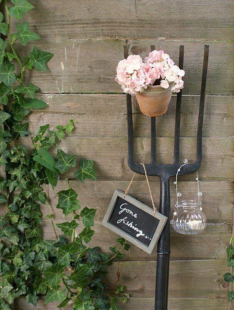 Gartenideen Alte Sachen Efeu Gartendeko Schild Tafel | Garten ... Gartendeko Aus Alten Sachen Ideen