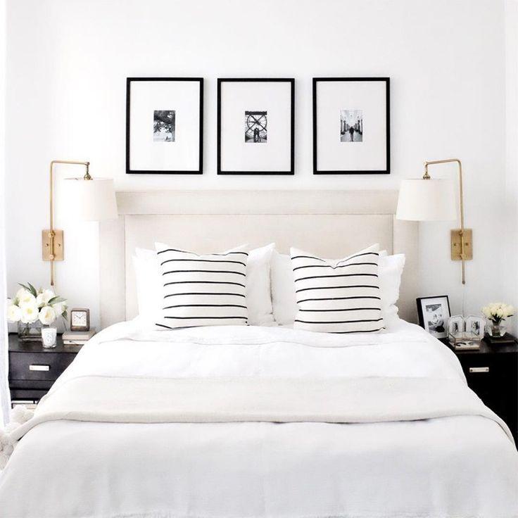 Photo of Få utseendet: Elegant svart / hvitt soverom