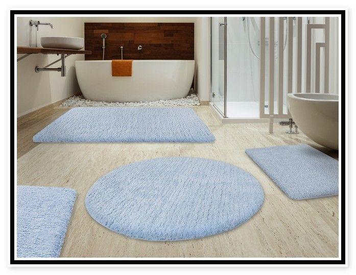 Best Modern Bathroom Accessories With Extra Soft Bath Mat Set And Soft Light  Blue Bath Rug