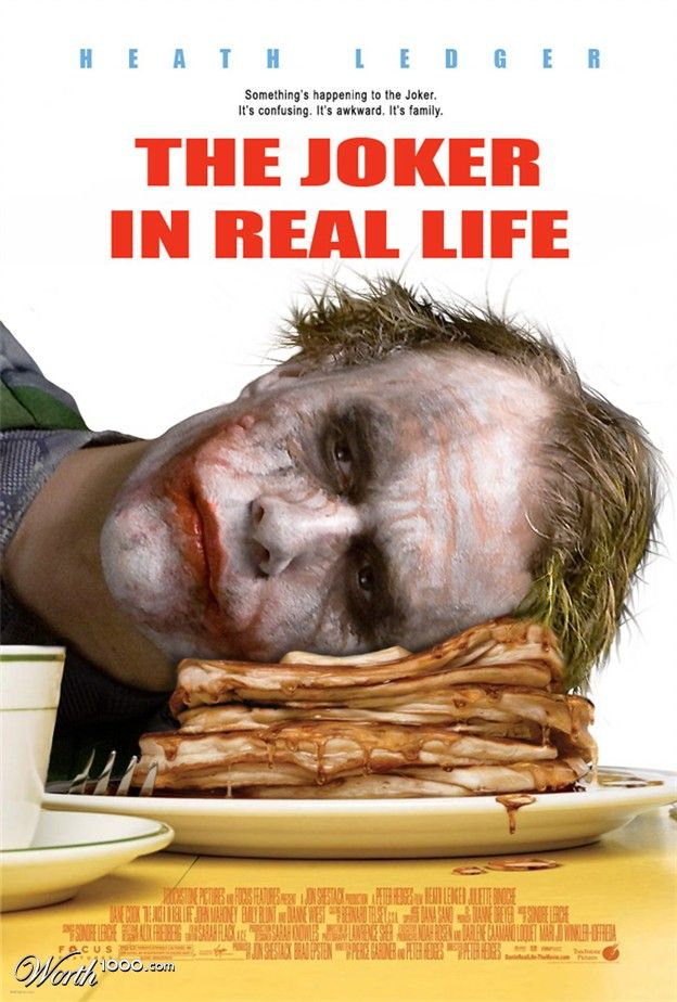 Movie Posters Mashup: The Joker In Real Life