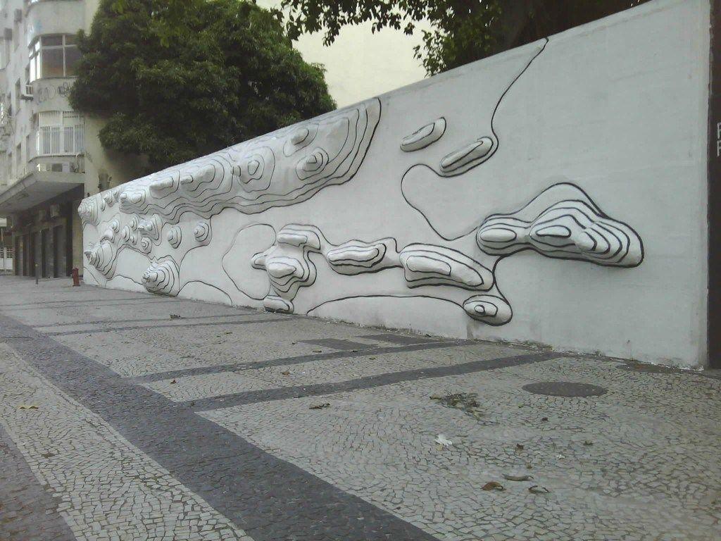 Rio de Janeiro em Curvas de nÍvel Muro ao lado daa Maison de France