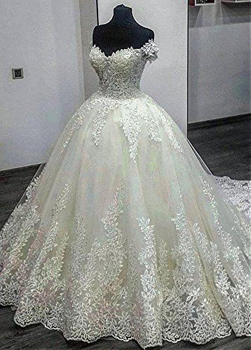 Dressylady 2018 Gorgeous Off The Shoulder Appliques Ball Gown ...
