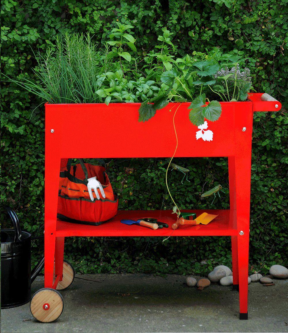 hochbeet mit r dern 39 rot 39 75x35x80 cm hochbeet balkon pinterest hochbeet rot und hochbeet. Black Bedroom Furniture Sets. Home Design Ideas