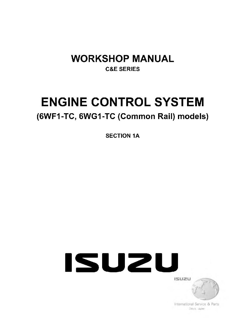 Engine Control System 6wf1 Tc 6wg1 Tc For Isuzu C E Series Workshop Repair Service Manual Pd Control System Pdf Download Manual