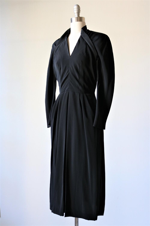 Vintage 1940s Avant Garde Black Dress Etsy Dresses Black Dress Rayon Dress [ 1500 x 1000 Pixel ]