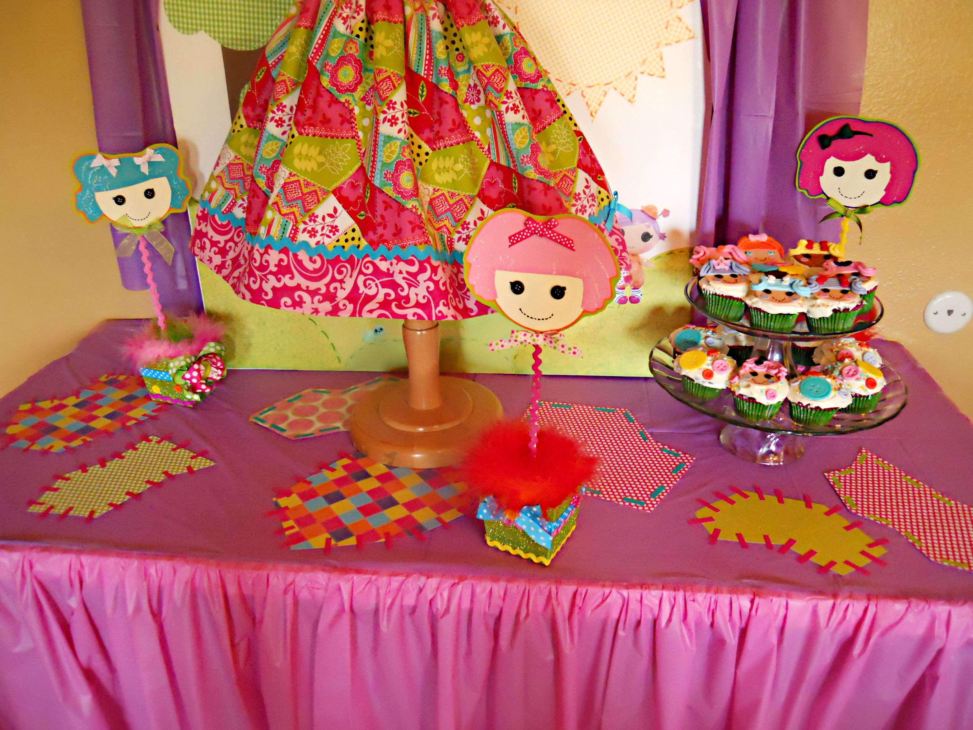 Lalaloopsy birthday table center piece decoration ideas