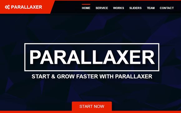 Bootstrap parallax one page premium template