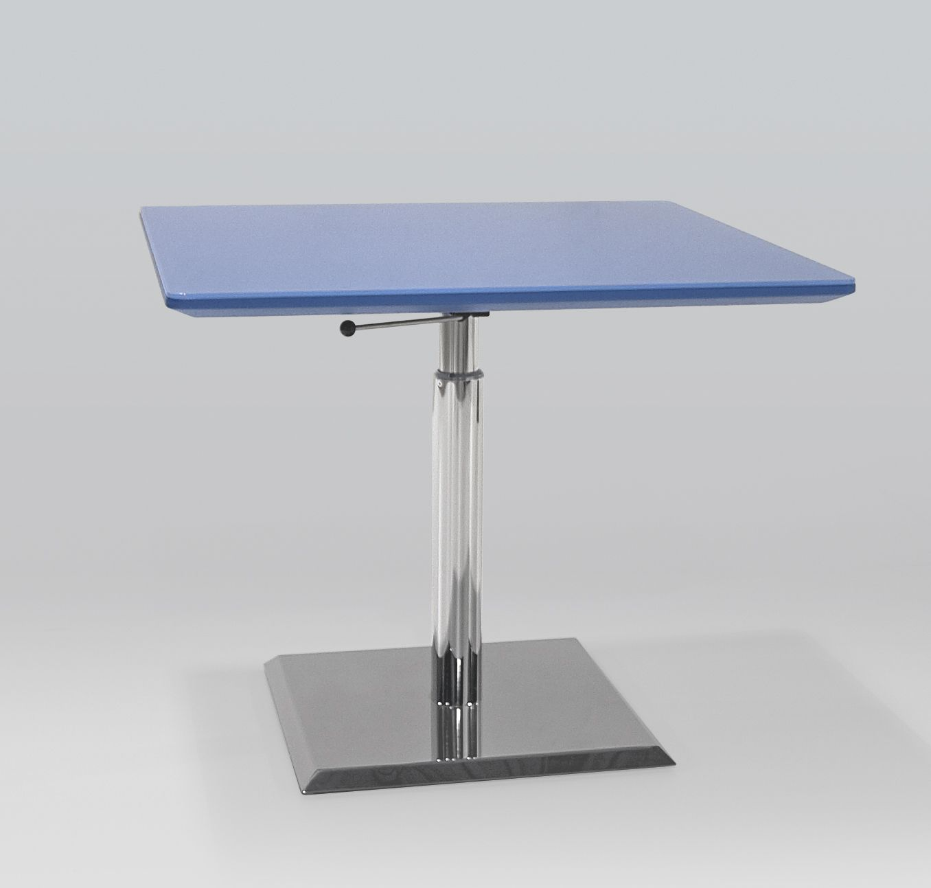 Prismatique Height Adjustable Table With Painted Back Glass Top Adjustable Table Adjustable Height Table Glass Top [ 1293 x 1356 Pixel ]
