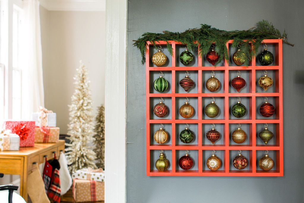 DIY Pigeon Hole Display for Your Christmas Ornaments
