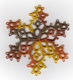 I love Jon Yusoff's tatting projects. I can't wait to purchase her snowflake instructional.