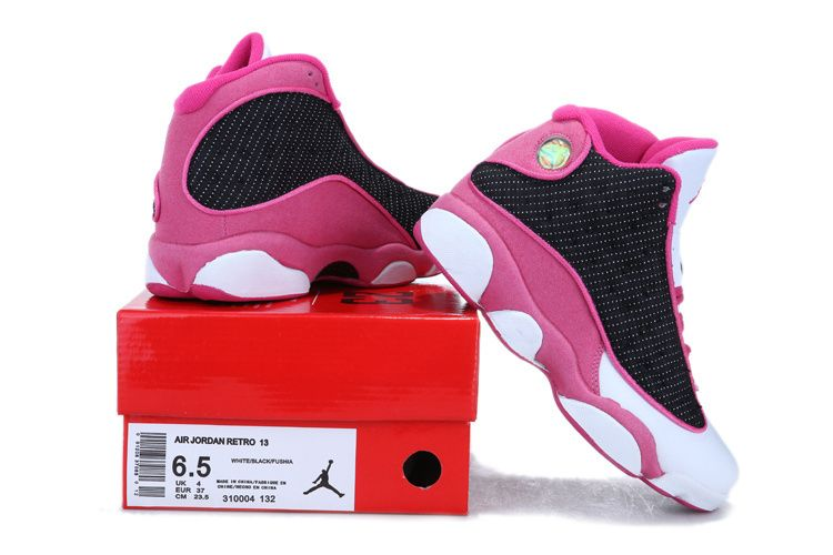 official photos 15228 88508 2013 Air Jordan 13 White Black Pink For Women
