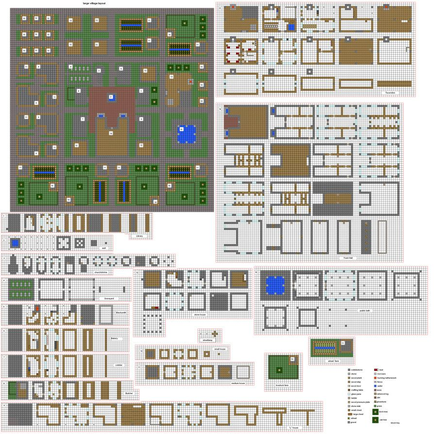 Cool House Floor Plans Minecraft minecraft village blueprints 07 | minecraft | pinterest