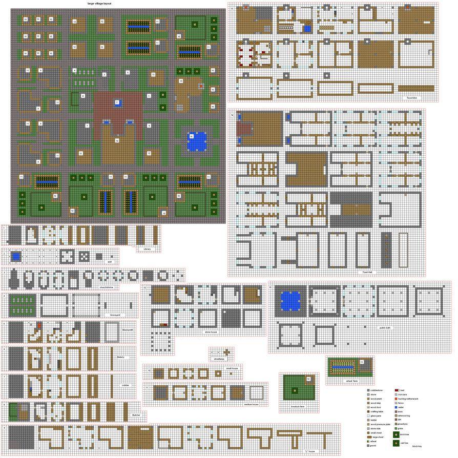 Minecraft Village Blueprints Maison Minecraft Creations