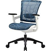 Skate Chair Staples Office Ratings 2016 Buy Mesh Ergonomic Mid Back Adjustable Arms Blue At Low Price Or Read Customer Reviews To Learn More