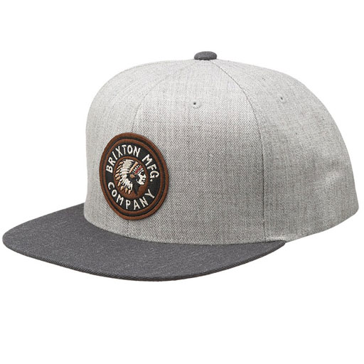 e4e072bf7170e Brixton Rival Snapback Hat (Heather Grey Charcoal)  27.95