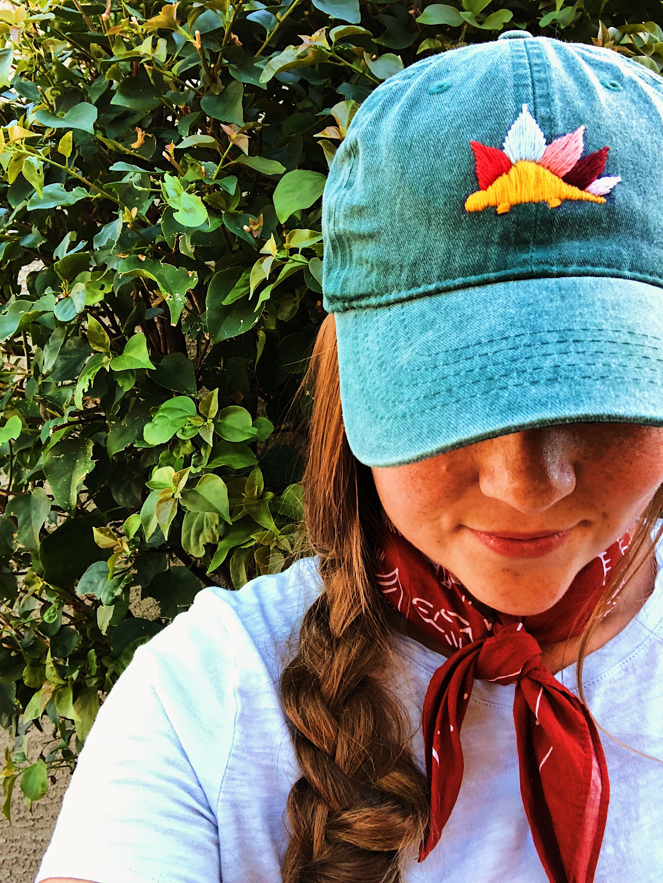 Hand Embroidery Dinosaur Baseball Hat Made By Heyoldschoolthreads Hat Embroidery Embroidery Dinosaur Dinosaur Hat