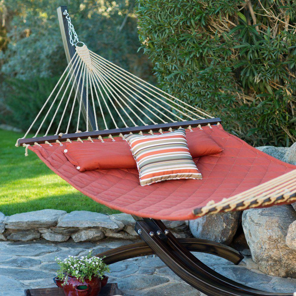 Island bay ft sienna diamond stitch quilted hammock outdoor