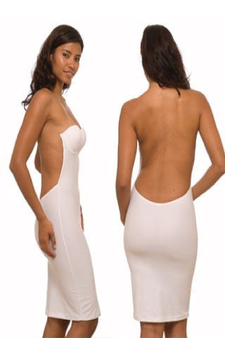 Backless Bra Slip Wedding Dress