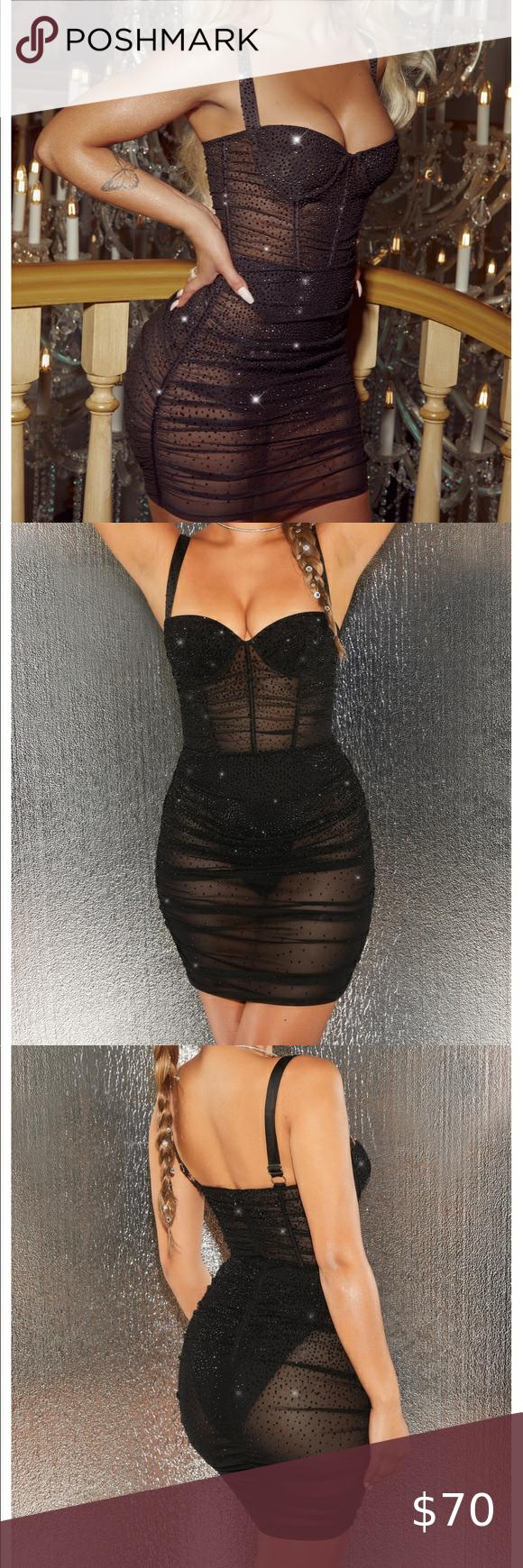 Black Rhinestone Mini Dress Black Bodycon Dress Rhinestone Mini Dresses Bodycon Dress [ 1740 x 580 Pixel ]