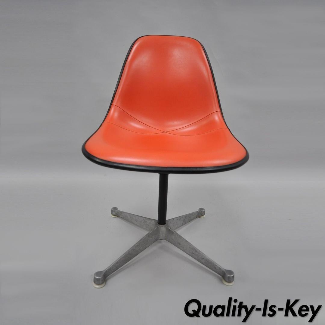 Vintage Herman Miller Eames Fiberglass Shell Swivel Chair Office