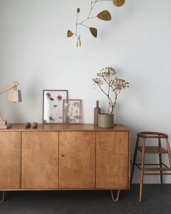 Rooms: Natural, Warm Minimalist Nook. I Love All The Wood Tones